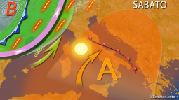 /meteo/news.html?pg=1&id=Meteo Weekend: sole prevalente al Centrosud, rischio temporali al Nord